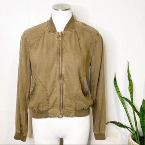 Bella Dahl | Tencel Zip Up Bomber Jacket